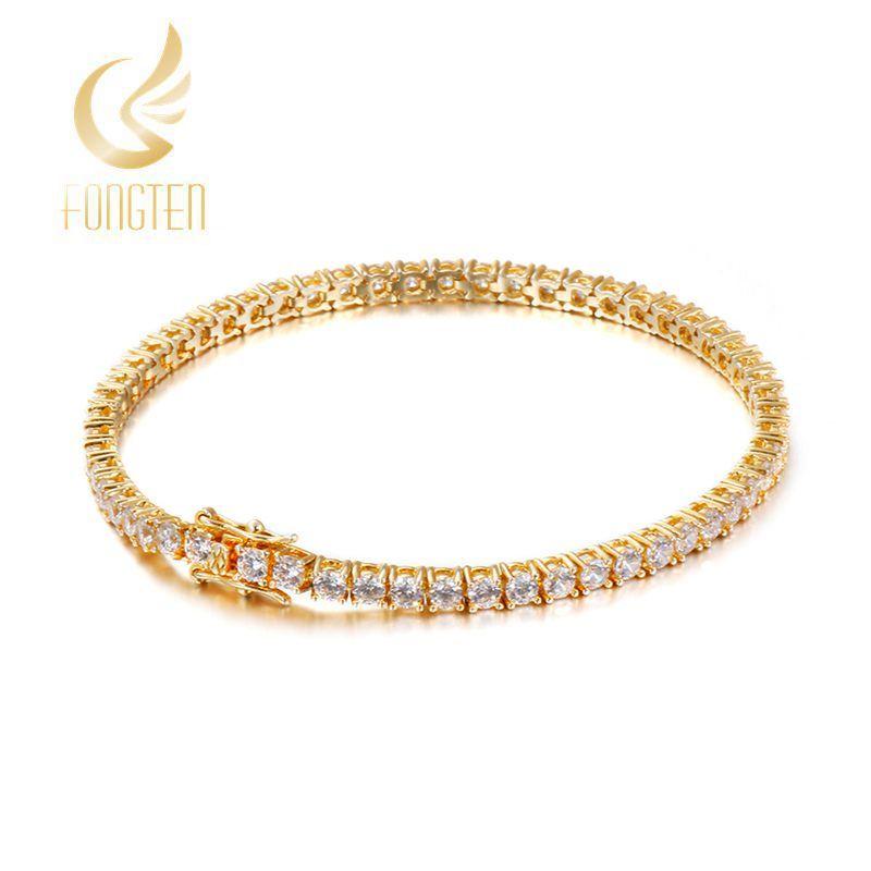 Intégrer ZC Gold S Cubic Bracelet Femme Girls Acier Inoxydable Cristal Bracelets