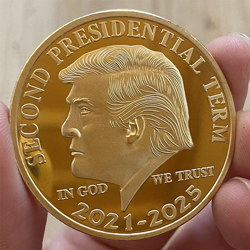 New Second Presidential Term 2021-2025 Coin America President Trump 2020 Collection Coins Crafts Trump Keep America Great Again Coins A480
