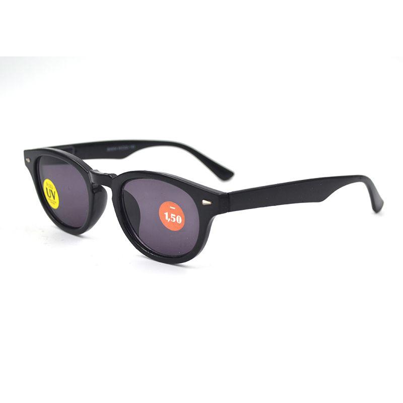 Mulheres Miopia Óculos Moda Óculos de sol pretos retros com dioptrias Espetáculos para a Visão prescrição óptica Óculos UV400 L3