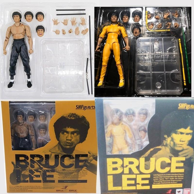 Shfiguarts King Of Kung Fu Bruce Lee Variante mit Nunchaku Actionfigur Sammler Modell Spielzeug 15cm Y200919