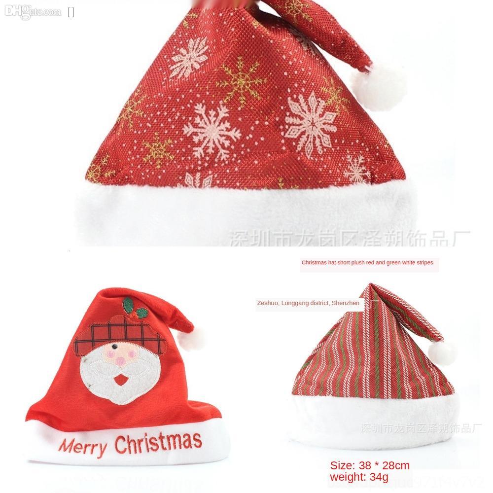 BZ87N Hat Снежинка украшения Трикотажные Hat Christmas Xmas Рождество Шерстяной Hat взрослых и снежинки Детский Санта-Клаус HWA