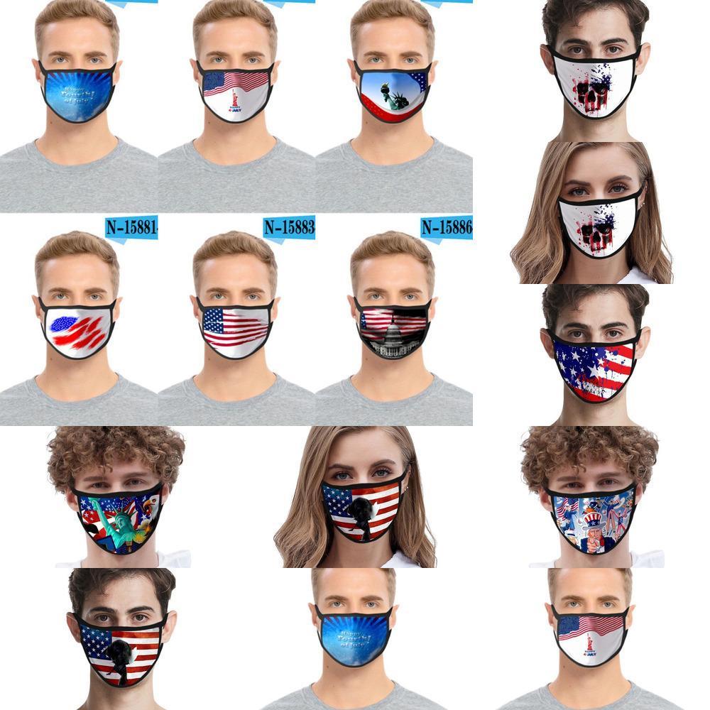 Doppel Foral Ebenenmaske Print Gesicht Staubdichtes Anti-uv Designer Masken Mode Frauen Männer Mout Kwt4