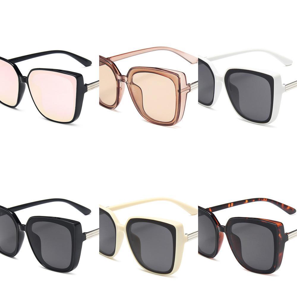 Mode oeil de chat en plastique femmes grande marque de créateur de lunettes de soleil taille soleil miroir Rétro pour Lady UV400, lunettes