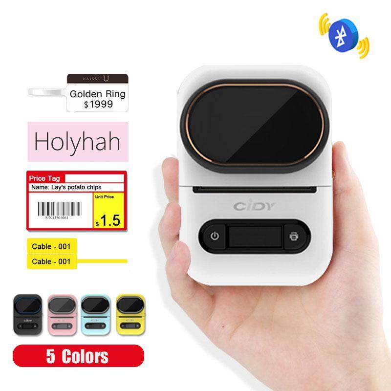 CIDY EQ11 mini portátil Impresora de etiquetas de joyería térmica Lable impresora de código de barras del producto Lable inalámbrica Bluetooth Supermercado Tienda