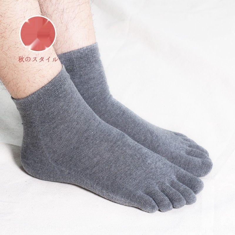 Cinco dedo del dedo del pie de los hombres calcetines de algodón calcetines de mantener el calor mitad de la longitud otoño y el invierno de cinco pies caliente absorbe el sudor y la humedad que absorbe jZ6hg j