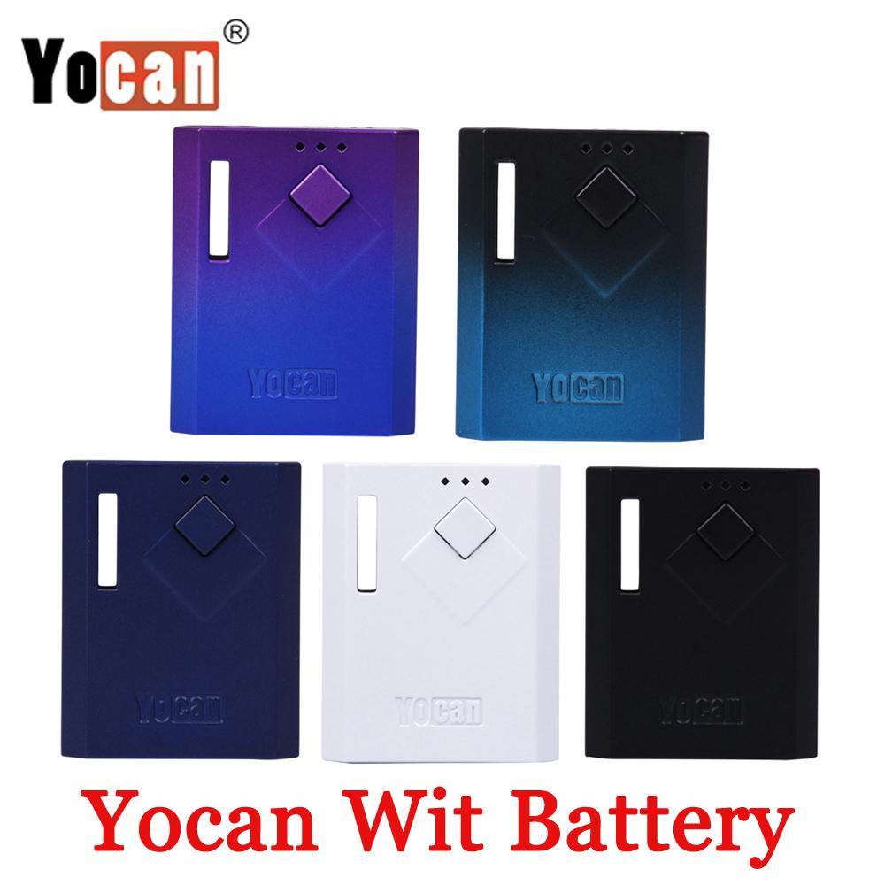 100% первоначально Yocan Wit Mod Разогреть В.В. Регулируемое напряжение 500mAh Vape батареи Box Mods Magentic ПРИСПОСАБЛИВАТЬ 510 Картриджи Тележки Аутентичные