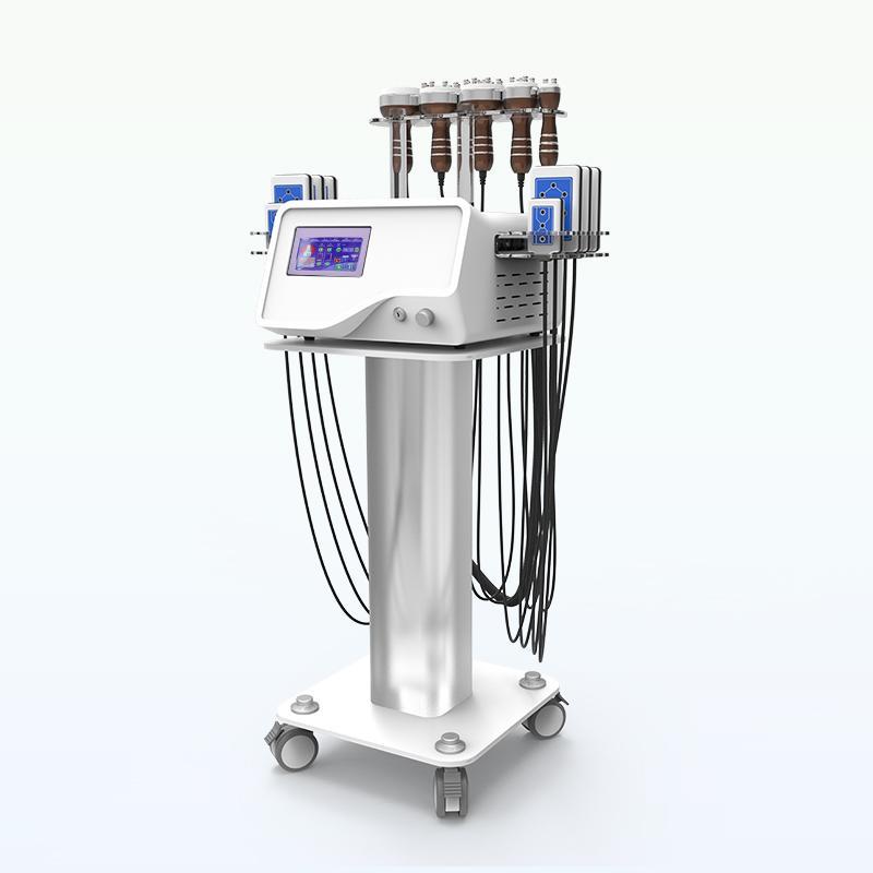 CE 40k Ultraschall Kavitation Lipo-Laser-Maschine 6 in 1 tragbare RF Vakuum Kavitation Body Massage-Maschine