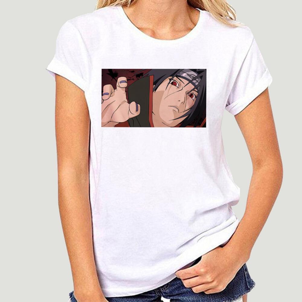 Naruto Sasuke cool japonais Anime T-shirt Harajuku Ullzang T-shirt d'été Hip Hop T-shirt mode Streetwear Homme-0325A