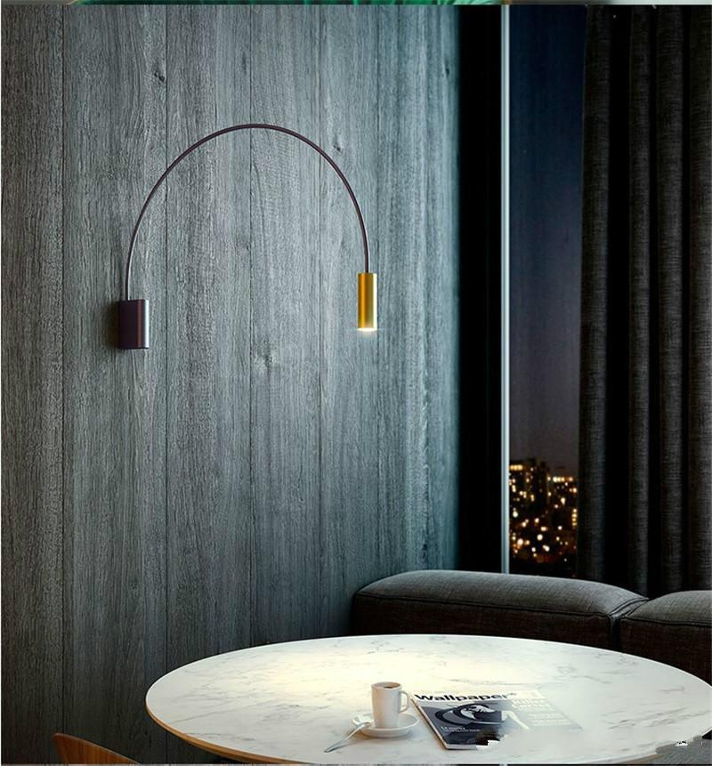 Modern Long Arms Wall Lamp Art Indoor Decoration Lighting White&Black Wall Sconce Home Bedroom Living Room Fixture