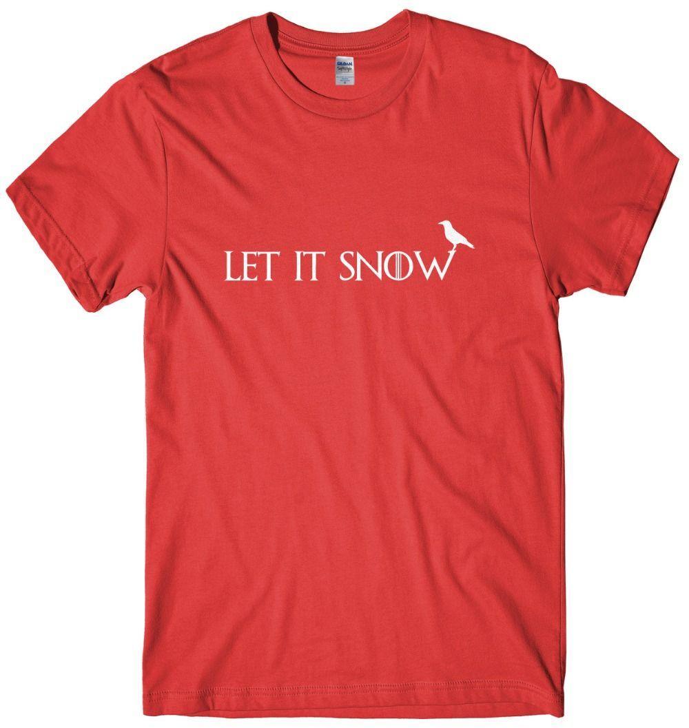 Nueva manera fresca casual de las camisetas para hombre de la nieve lo dejó unisex divertido camiseta de la Navidad