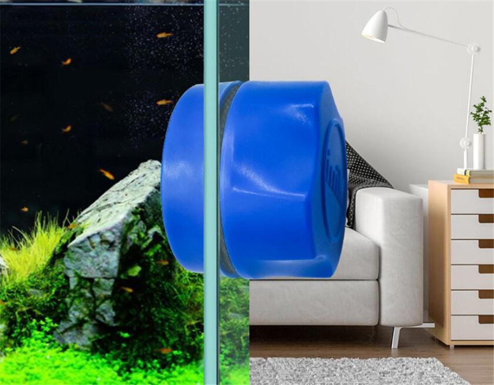 Новый дом Aquarium Fish Tank Magnetic чистой щеткой стекла Floating Водоросли скребок Curve стекла очиститель скруббер Инструмент очистки окон Магнит
