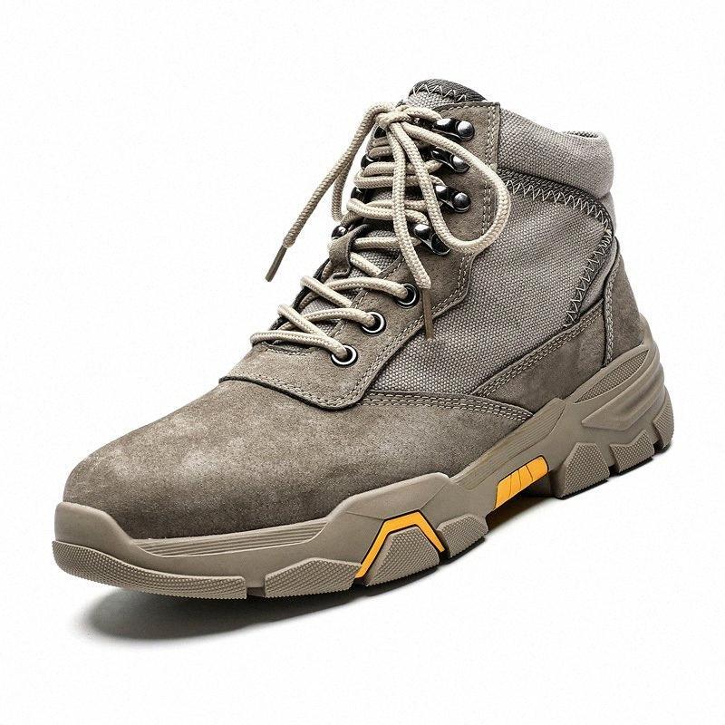 2019 Vente chaude Hommes d'hiver chaud neige Bottes Hommes en peluche imperméable lacent Chaussures cheville Hommes Chaussures Casual Mode Outdoor SkVV n