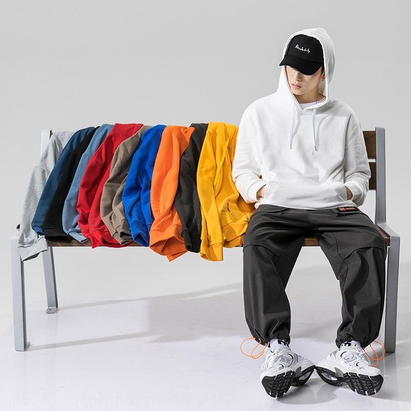 L'automne chandail des hommes et l'hiver nouveau casual grand pull pull-over pulloverTop pulloversize haut capuche couleur unie de base I6qiw
