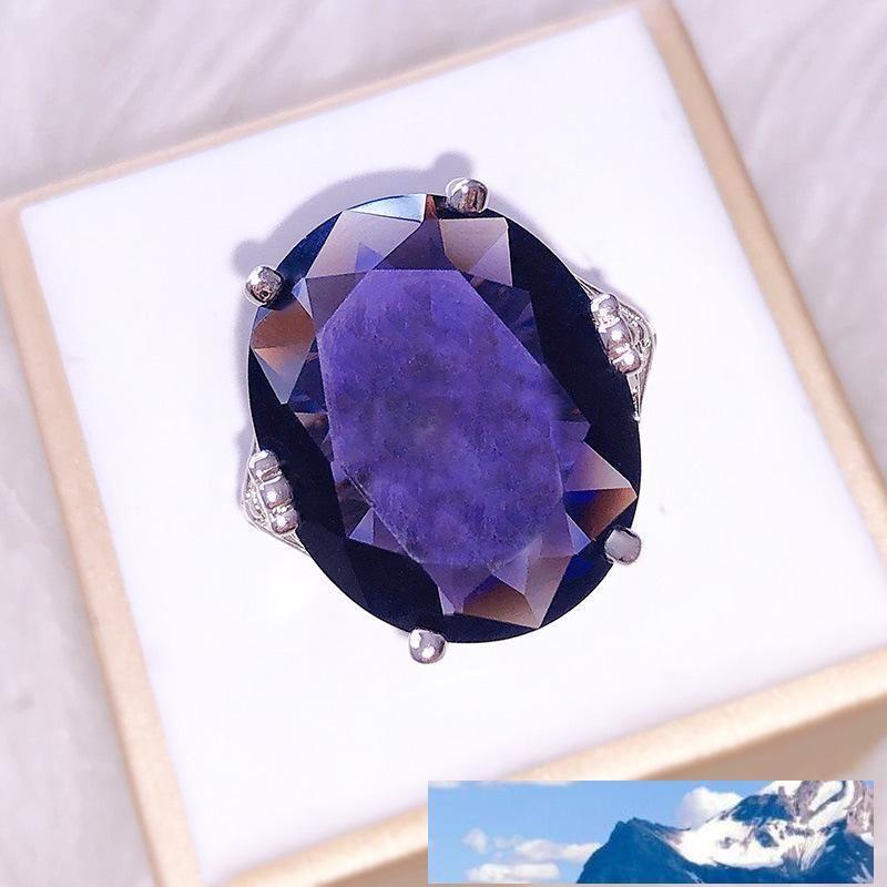 Concise Violet Cristal Bride Anneau Ornements