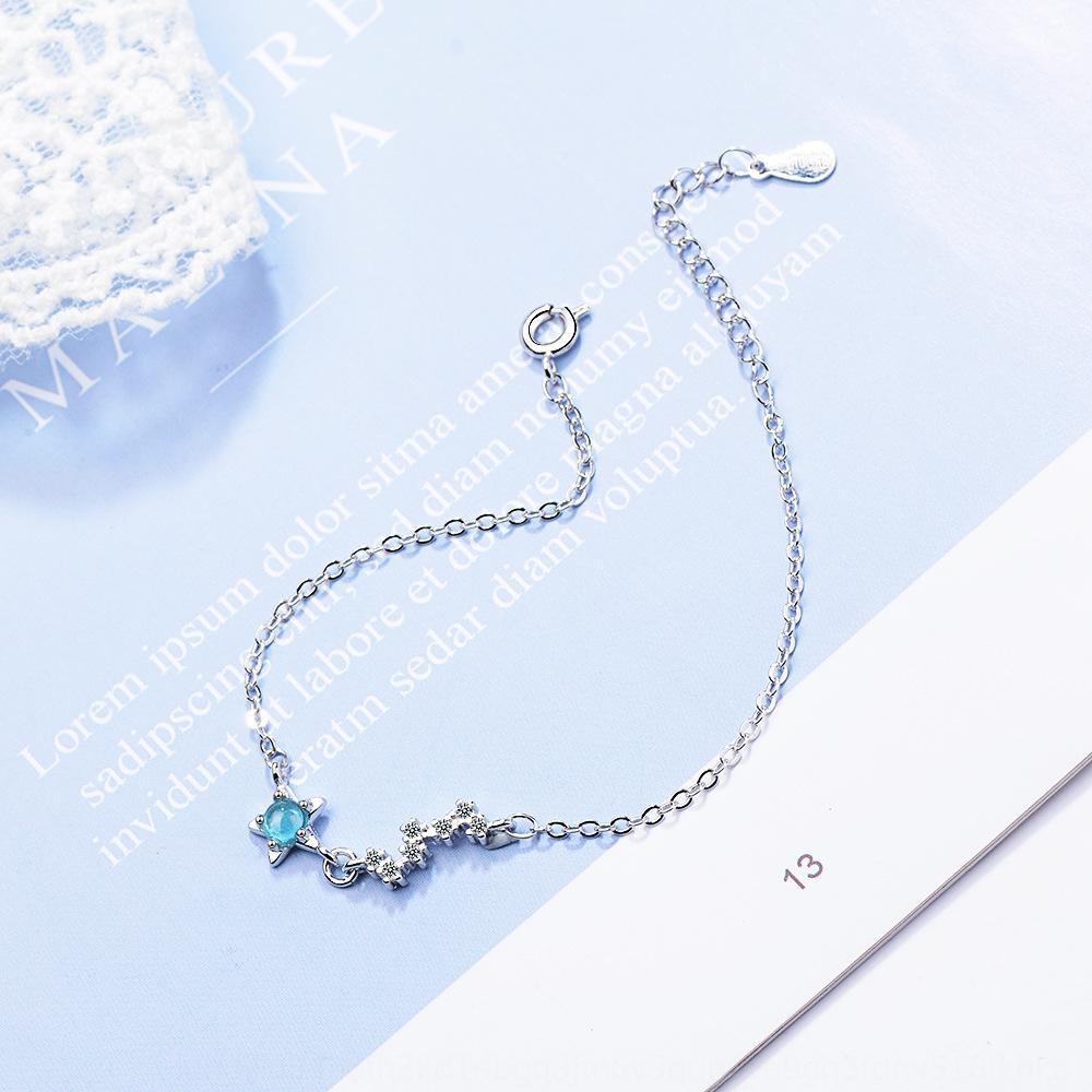 dyx0z Blue Planet vidrados moderno cristal feminino bracelete de cristal projeto meteoro sentido nicho pulseira vento frio