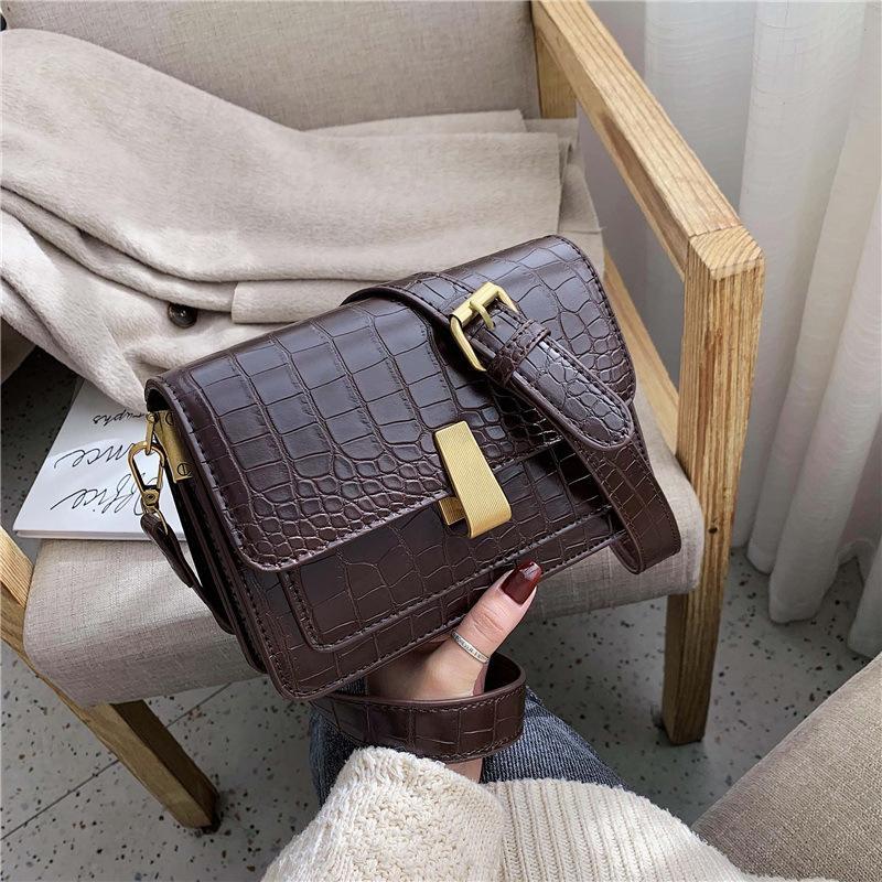 Cuoio pietra del reticolo Borse Crossbody per le donne Vintage Piccolo Shoulder Bag Messenger borse delle signore di viaggio e borse