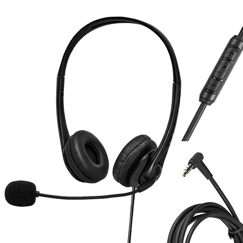3.5mm Stereo Jack Wired Over Ear Gaming Headset Headphone With Microphone Volume Control For PC Laptop Cell Phones