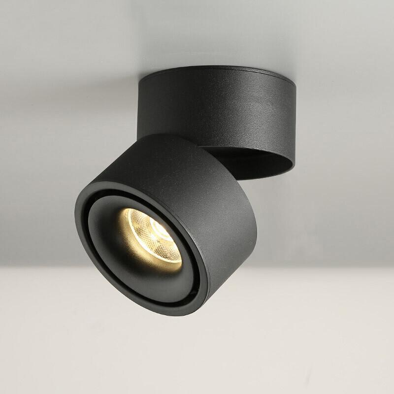 Dim COB LED Downlight Yüzey LED Tavan Lambaları 7W 9 W 12W Katlanabilir Ve 360 derece dönebilen Arkaplan Parça Nokta ışıklar Monteli