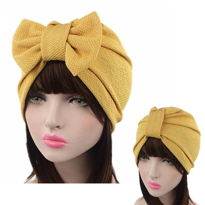 2020 Mode Frauen Hüte Twist Frauen-Mehrzweck Bogen Turban-Hut Mode-Haar-Zusatz Bandana Hairdband
