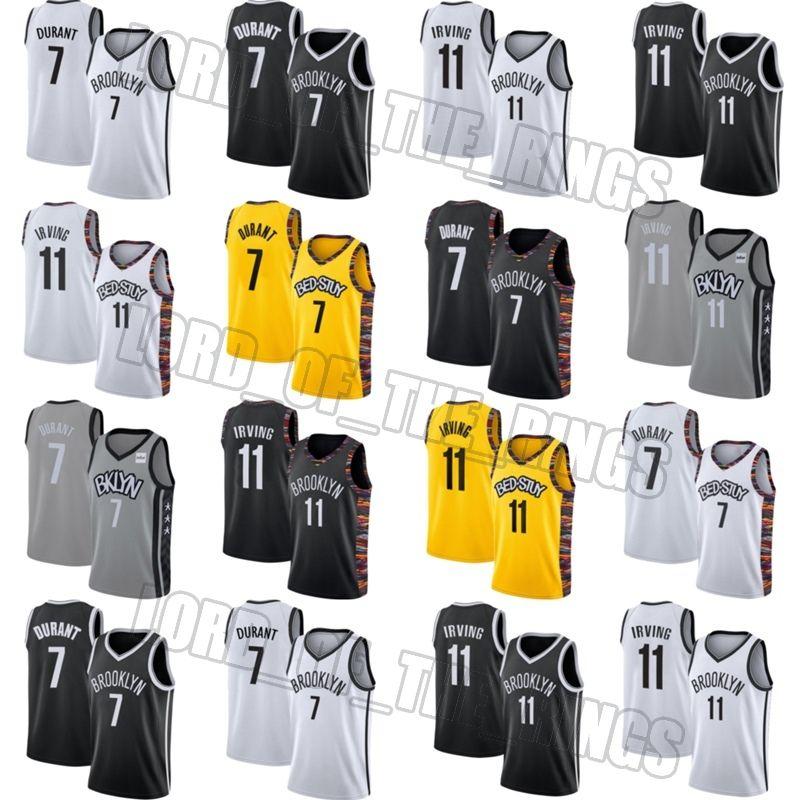 BrooklynAğlarJersey Kevin 7 Durant Formalar Kyrie 11 Jersey Irving Jersey Basketbol Formalar