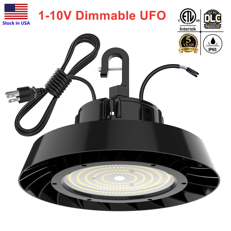 أضواء ETL DLC LED العالية خليج ضوء 150W 200W 240W 5000K 1-10V عكس الضوء تجاري للالشونة المرآب مصباح ضمان 5 سنوات
