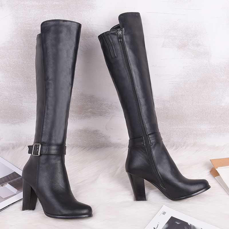 QZYERAI Европа новое прибытие в осенних сапогах для женщин сапог для женщин каблуков марочных случайных женских размеров ботинок 34-43