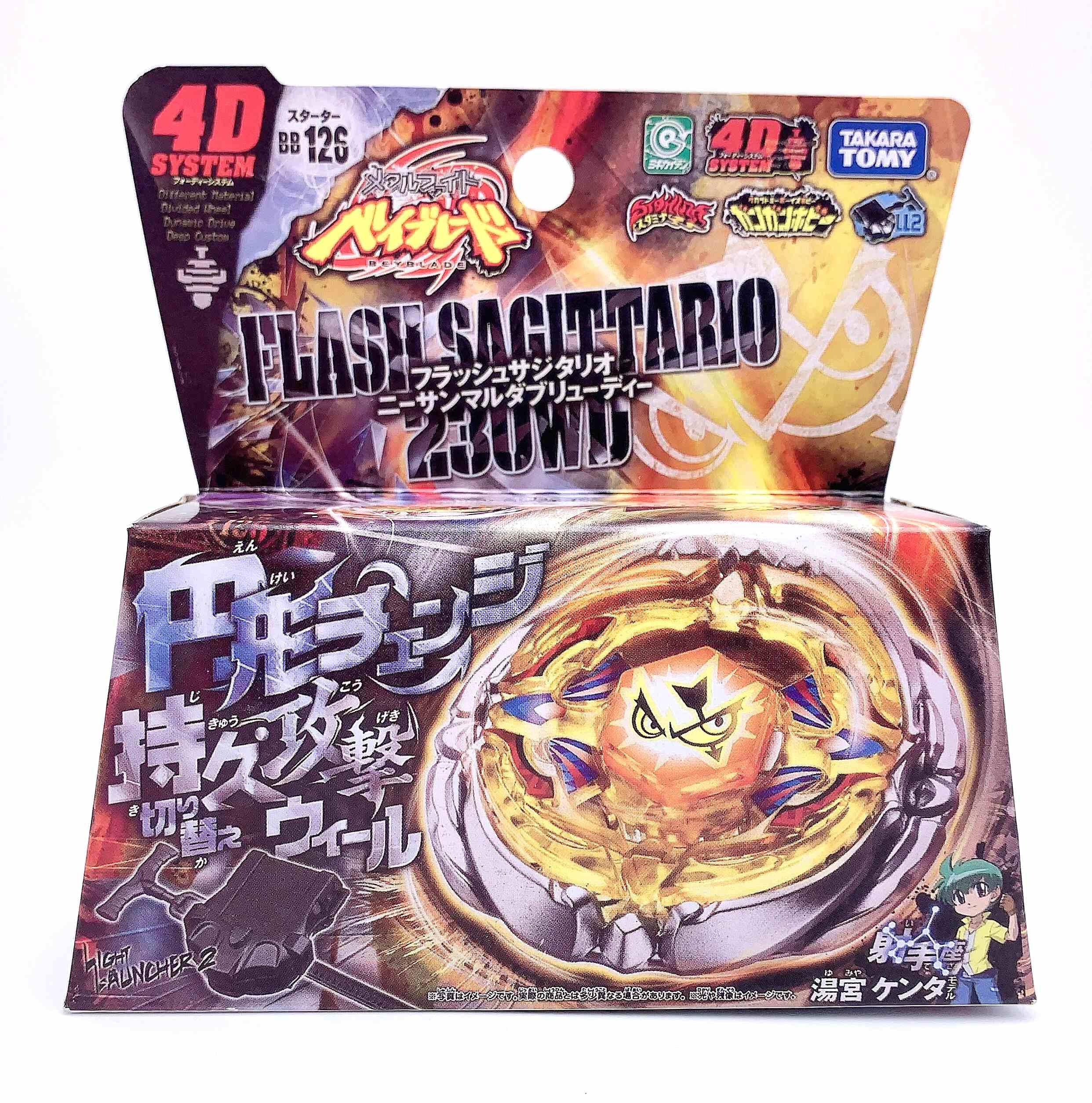 100% Takara Tomy Beyblade Metal Fight BB126 Flash Sagittario 230WD LAUNCHER as Children's Day Toys