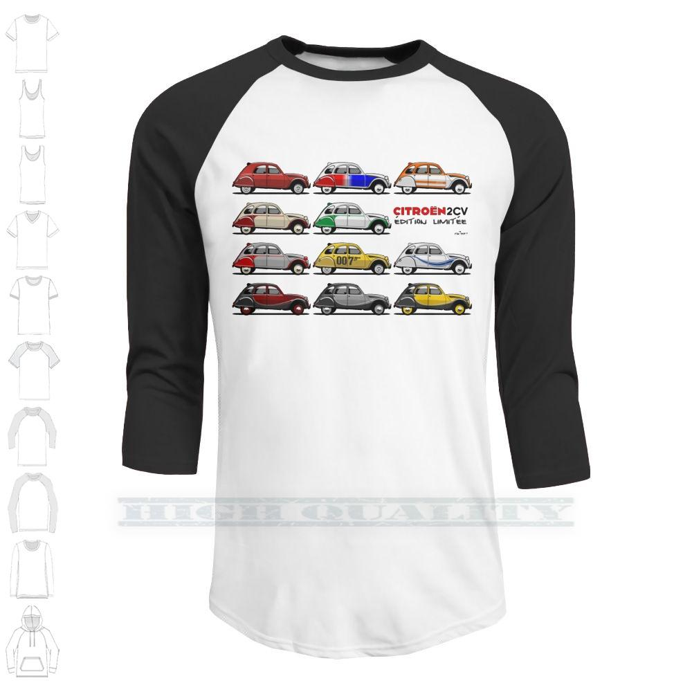 Citro? n 2cv Limitierte Auflagen Custom Design Print Für Männer Frauen Cotton New Cool-T-Shirt Big Size 6xl 2cv 2 Cv