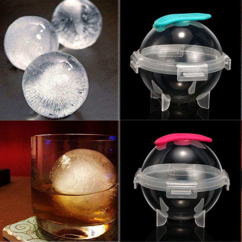 Silicone rotonda di hockey su ghiaccio della muffa di plastica creativo della Whiskey cocktail Ice Cube sfera stampista Kitchen Bar potabile VT1584
