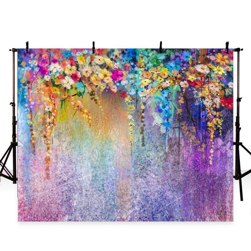 tessuto Fotografia artistica fondali colorati fiori bambini Baby Foto vinile backgrounds per studio fotografico photocall