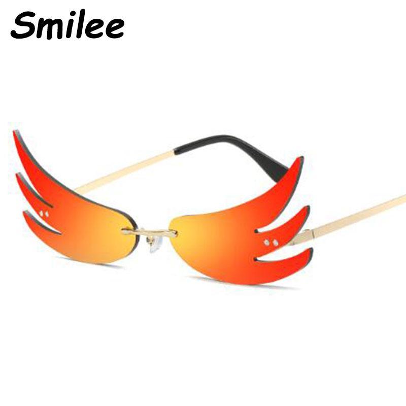 2020 orange rote flamme brille marketall auge männer frauen sonnenbrille katze retro designer oculos brille uv400 tades rahmen sun qknjr