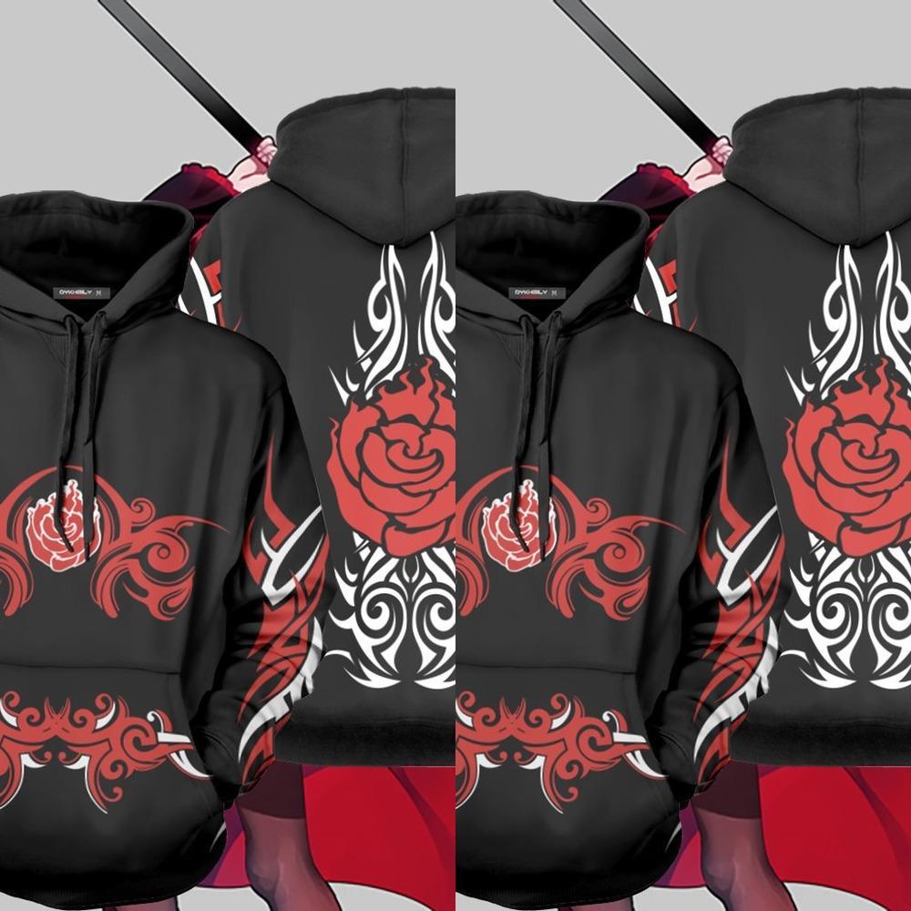 Yeni Meiman RWBY Serisi 3D kapüşonlu kazak Cosplay kazak pulloversweater kazak kapüşonlu Cosplay Yeni Meiman RWBY Serisi 3D baskılı baskılı