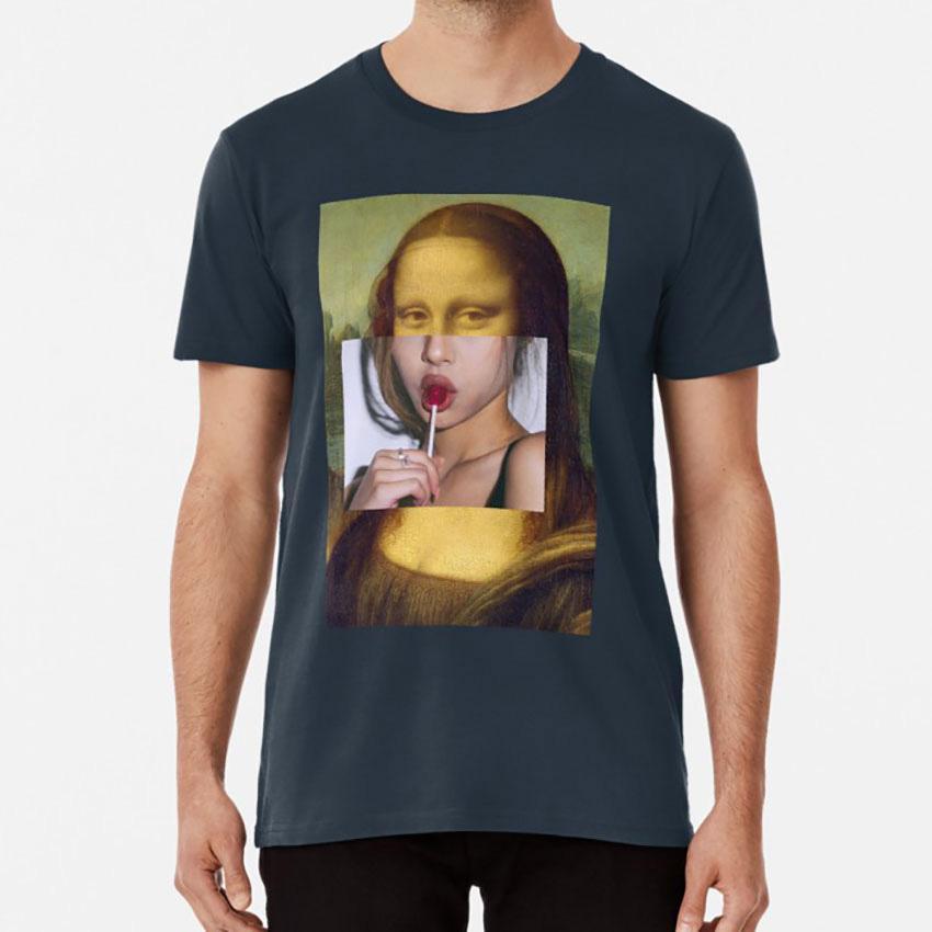 Mona Lisa Lolly Pop - Collage T-Shirt Smoking Mona Lisa Poster Lolly Pop Lollipop