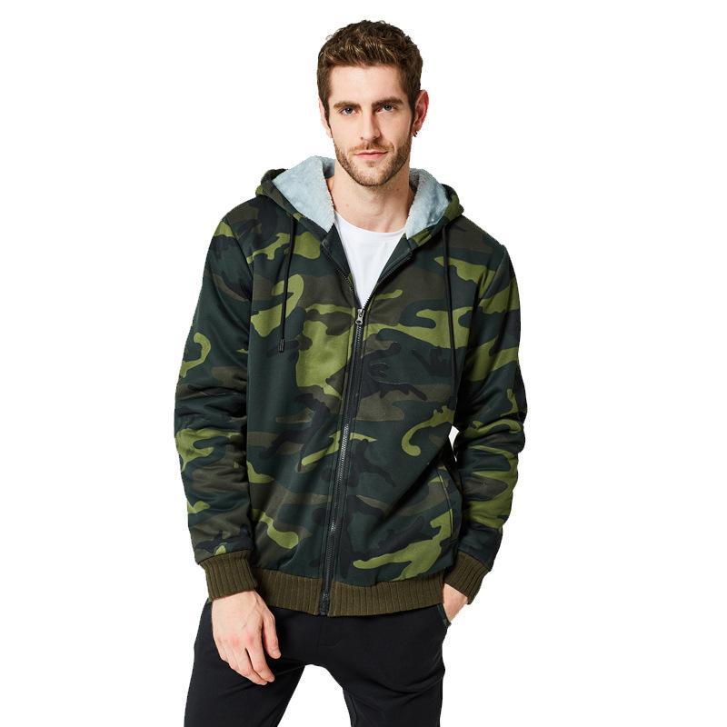 Autumn Boys Green Camouflage Hoodies Casual Winter Sportswear Man Zip Hoodie Hooded Oversized Sweatshirt Male Long Sleeve Top T200914