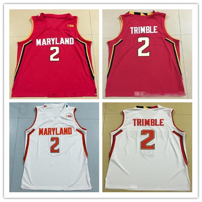customize NCAA # 2 Melo TRIMBLE JERSEY MARY Terrapins Throwback College Basketball Jersey Mann Frauen Jugend Trikots jeder Name Nummer S-5XL