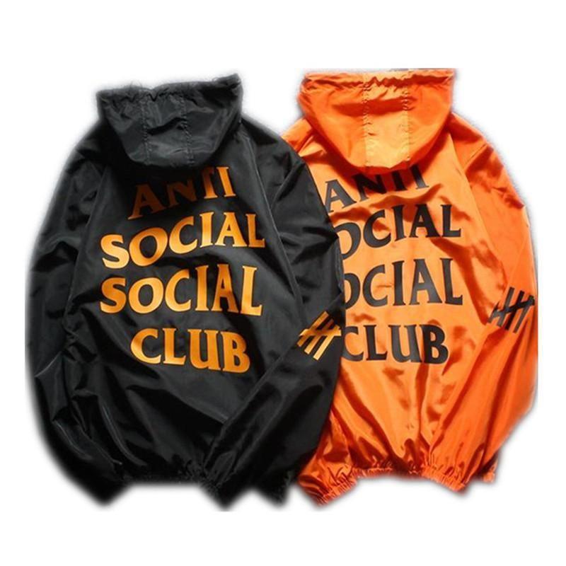 Marke Männer Jacke Mantel Sonnencreme Casual Herren Kleidung Jacken Tops mit Brief Gedruckt Revers Mit Kapuze Black Windjacke Streetwear S-XXL