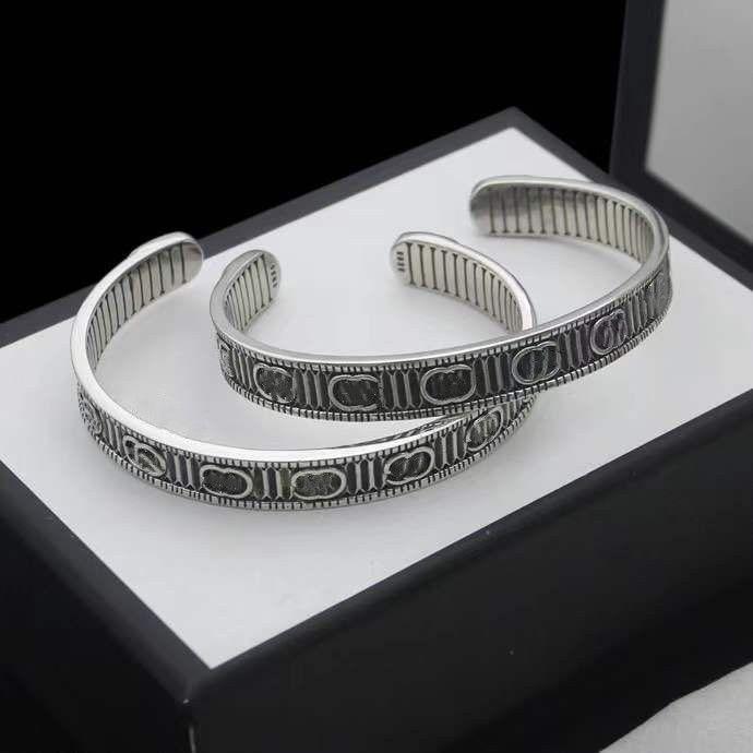 خمر زوجين سوار افتتاح حجم قابل للتعديل سوار أزياء شخصية سوار جودة عالية الفضة مطلي مجوهرات العرض