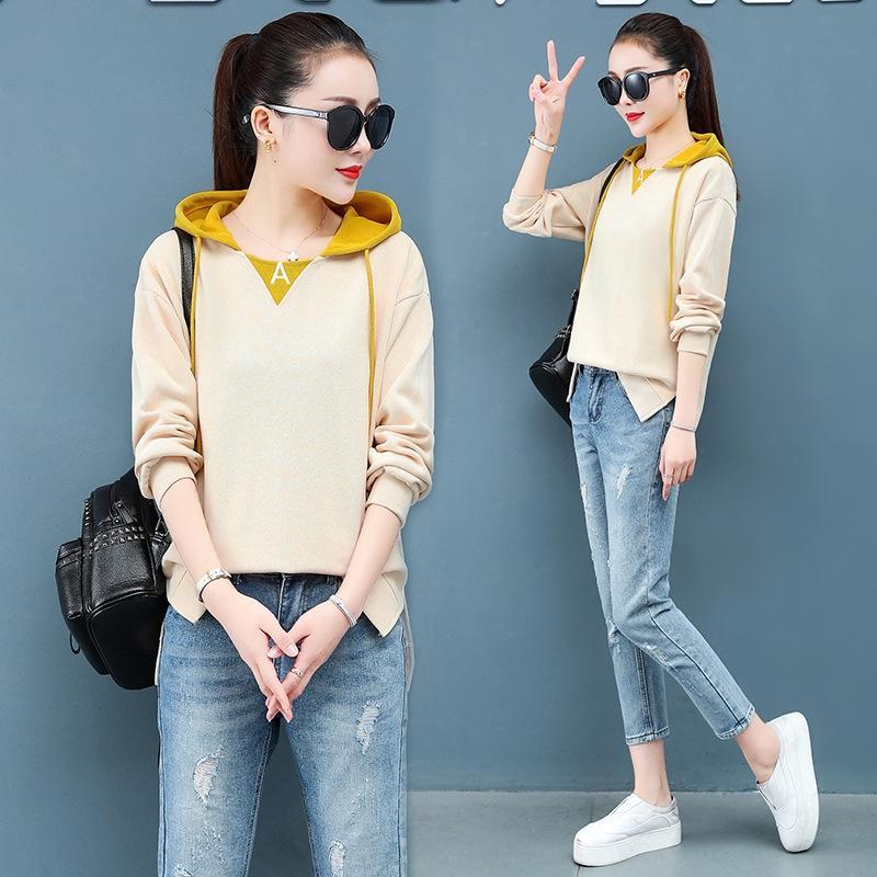 свободный свитер весной Корейский стиль 4F0xi женщин в короткий короткий 2020 новая мода Ins моды пальто хлопка тонкий слой для женщин pDz4c