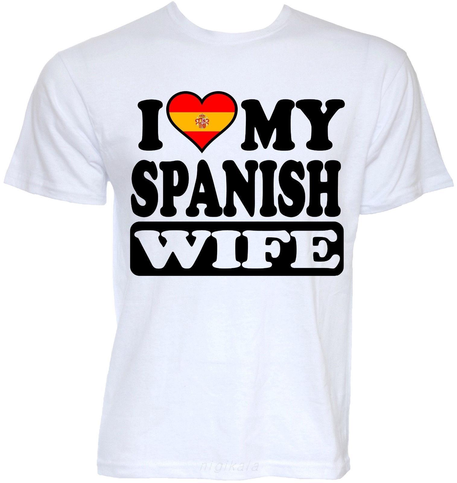 Hommes Drôle Cool Nouveauté sexy espagnole Femme Espagne Drapeau Joke Slogan T-shirts Cadeaux Hommes Hipster T-shirts manches T-Hauts