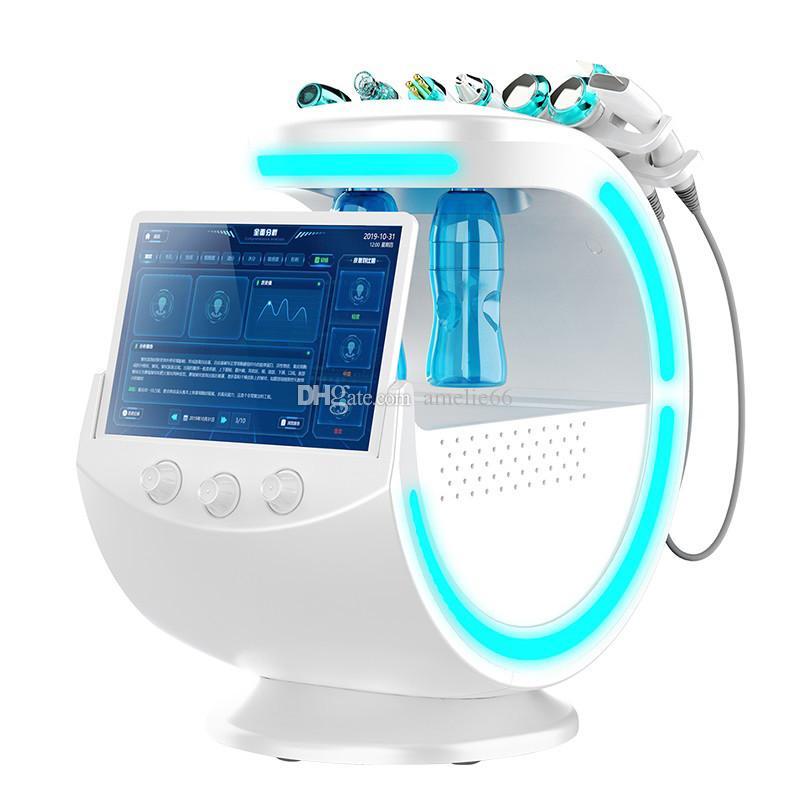 أحدث النمط الجليد الأزرق بالموجات فوق الصوتية RF أكوا الجلد الغسيل المضادة للتجاعيد الهيدروكسجين الجلدي الوجه مع تنظيف الجلد