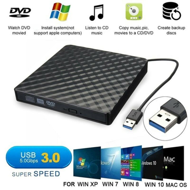 USB3.0 High Speed Black Внешний комбинированный оптический привод CD / DVD-плеер CD / DVD RW ROM