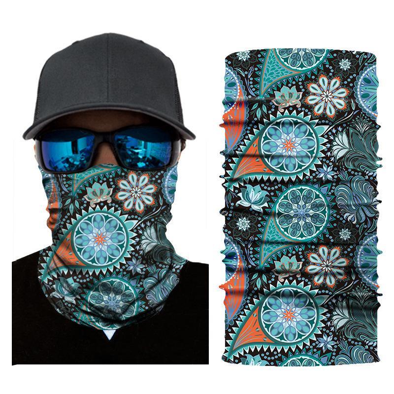 Высококачественная цифровой печать этническое оголовье магии езды на велосипеде Спорт на открытом воздухе бесшовных быстросохнущей платок шарфов маски