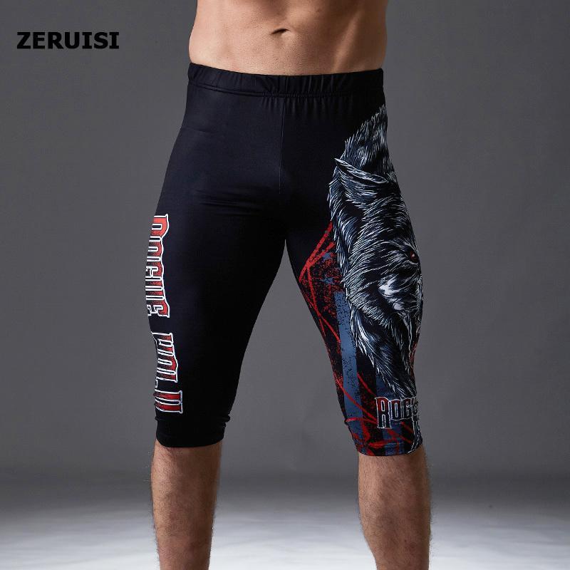 Compression Leggings genou Pads Pantalons de course pour homme Gym Fitness sport Jogger entraînement yoga Pantalons pour hommes Pantacourt 200922