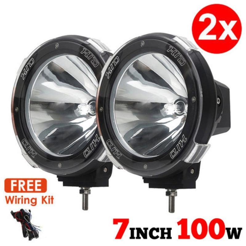 "Universal New 1 Pair 7"" inch 12V 100W HID Driving Lights XENON Spotlights for Offroad Hunting Fishing Camping Work Spot Lights"