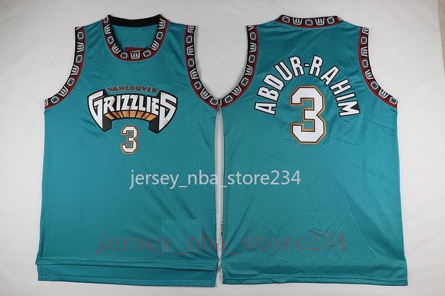 VancouverMemphisJersey Grizzlies 10 MikeBibby 50 Reeves 3 Shareef Abdur.Rahim Basketball Jersey 12 JaMorant Jersey