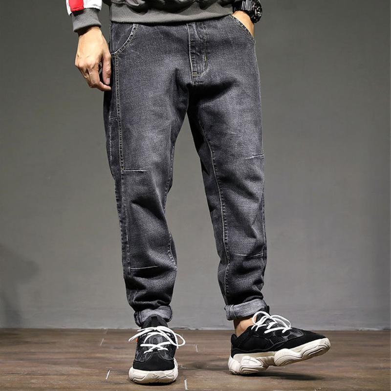 Pantalones vaqueros rasgados para los hombres de invierno y otoño Ocio nuevo de la manera floja estiramiento Harlan pantalones vaqueros de vigas Kot Pantolon Erkekler # g3