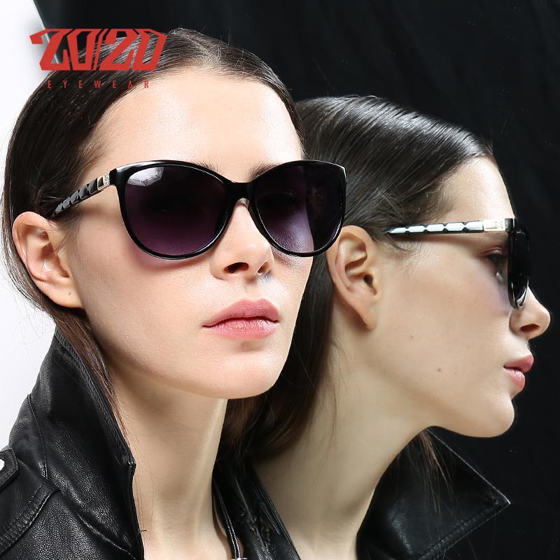 20/20 Brand Design Femmes oeil de chat Lunettes de soleil Femme style rétro des lunettes polarisantes Shades UV400 Feminino PL337