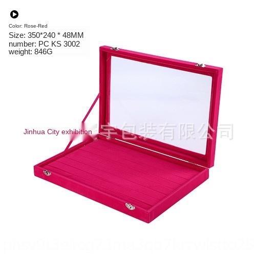 1UICl 8 anillo de la joyería de almacenamiento de barras pendientes anillo con la caja de joyería caja de presentación tapa de la pantalla de almacenamiento