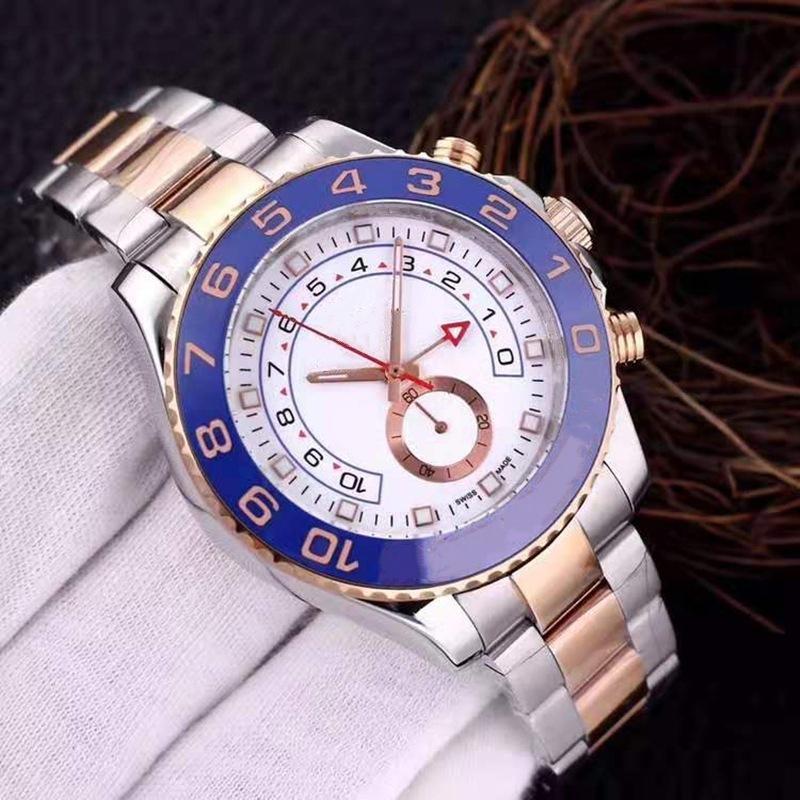 Montre-bracelet montre d'or de 44mm mouvement automatique Mécanique Mécanique Mensoirs d'acier inoxydable 2813 Vent de luxe Self