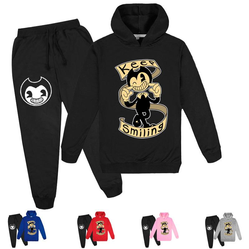 2-16Y Cute Fashion Set Halloween jeu Vêtements pour garçon Sweats à capuche Pantalons Set Filles Tenues tout-petits enfants jogging Casual de X0923 Dessous Sport